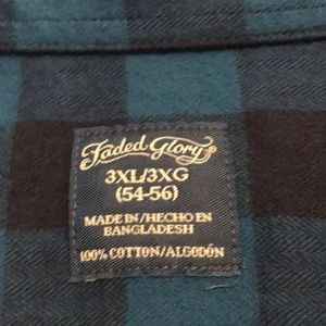 Faded Glory Shirts - Casual flannel shirt